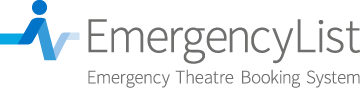 EmergencyList - The Emergency Theatre Booking System